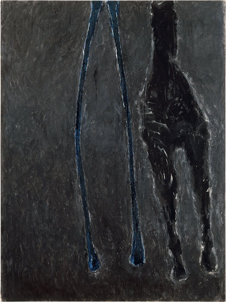 Wishbone (1979), Susan Rothenberg. Anderson Collection at Stanford University