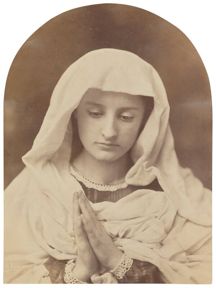 The Virgin in Prayer, (c. 1857), Oscar Gustav Rejlander. National Portrait Gallery, Creative Commons licence (CC BY-NC-ND 3.0)