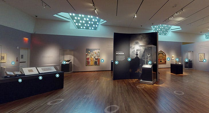 Screenshot of the 3D tour of 'The Moon: A Voyage Through Time' at Aga Khan Museum, Toronto