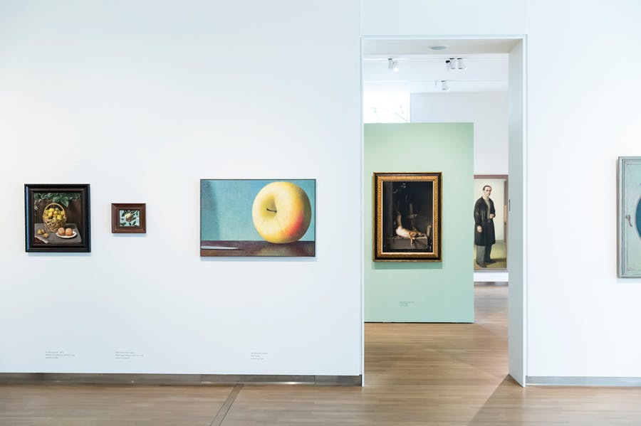 Installation view of the collection at Museum MORE, which deliberately avoids a chronological hang