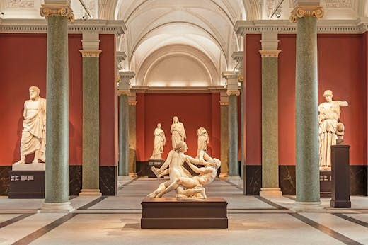 The restored Antikenhalle, or Hall of Antiquities, in the Gemäldegalerie Alte Meister, Dresden.