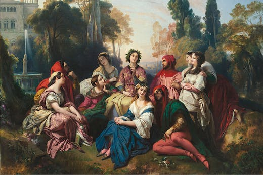Decameron (detail; 1837), Franz Xaver Winterhalter. The Princely Collections, Liechtenstein, Vaduz-Vienna