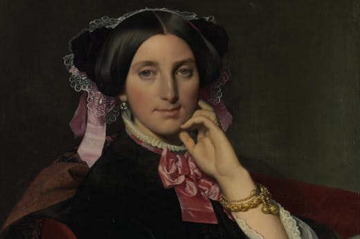 Portrait of Madame Gonse (detail; 1852), Jean-Auguste-Dominique Ingres. Musée Ingres Bourdelle, Montauban