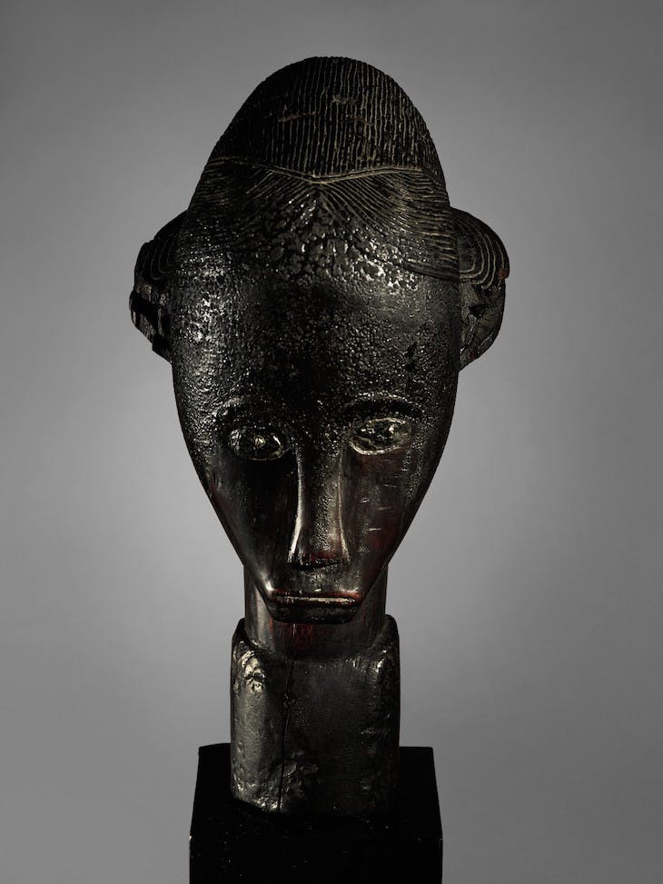 Reliquary head (19th century), Fang-Betsi people, central Africa.
