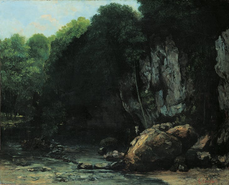 The Stream (c. 1865), Gustave Courbet.