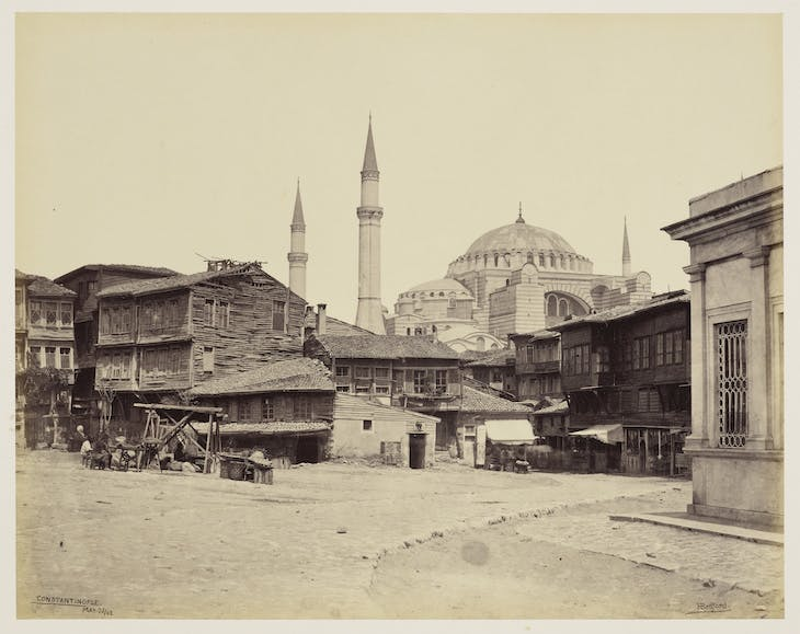 Mosque of St Sophia from Hippodrome, Istanbul (1862), Francis Bedford.
