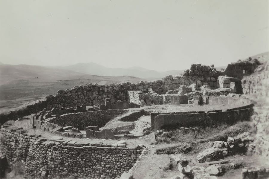 Grave Circle A viewed from South, Mycenae (1920–23), unknown photographer.