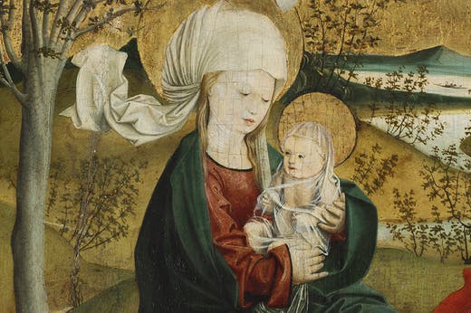 The Flight into Egypt, from the Mondsee Altarpiece (detail; c. 1495–99), Master of Mondsee.
