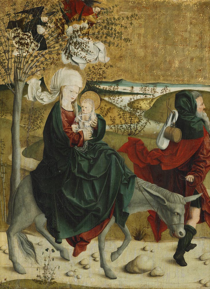 The Flight into Egypt, from the Mondsee Altarpiece (c. 1495–99), Master of Mondsee.