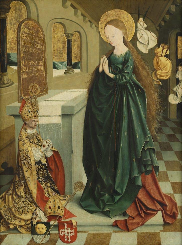 Madonna of Ears and Abbot Benedikt Eck (c. 1495–99), Master of Mondsee.