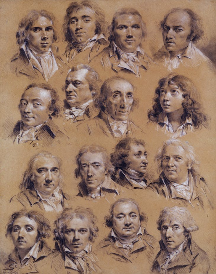 Sixteen heads of men (18th century), Louis-Léopold Boilly