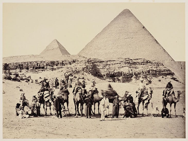 The Prince of Wales and Group at the Pyramids, Giza, Egypt (1862), Francis Bedford.