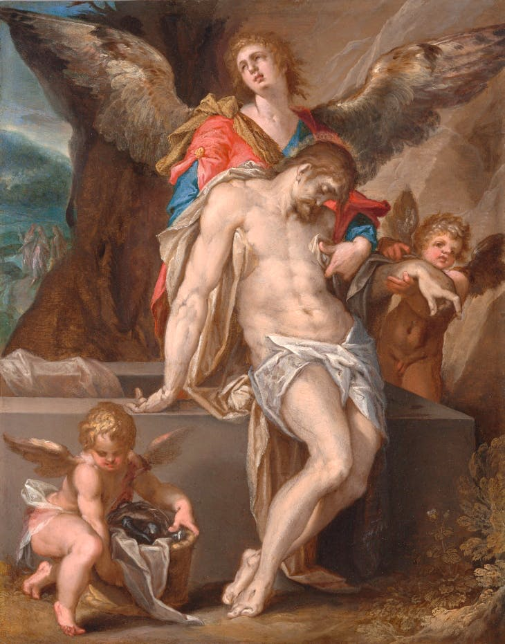 The Body of Christ Supported by Angels (c. 1587), Bartholomeus Spranger.