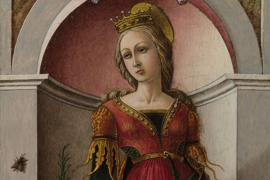 St Catherine of Alexandria (c. 1491–94), Carlo Crivelli. National Gallery, London