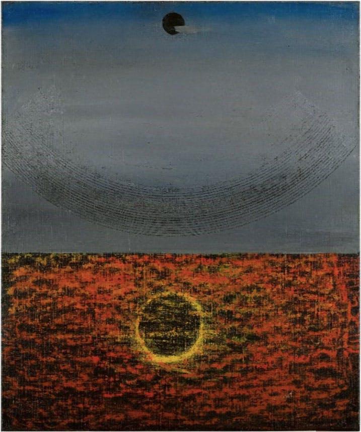 Effet de soleil reflété dans l'eau (1927/28), Max Ernst.