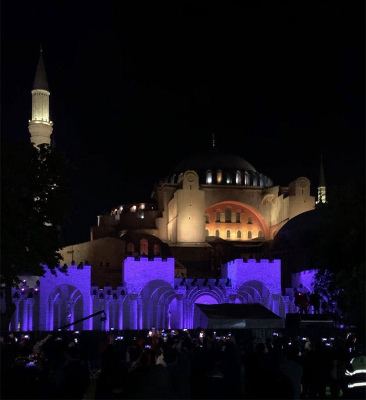 Hagia Sophia, Istanbul, photographed on 29 May 2020.