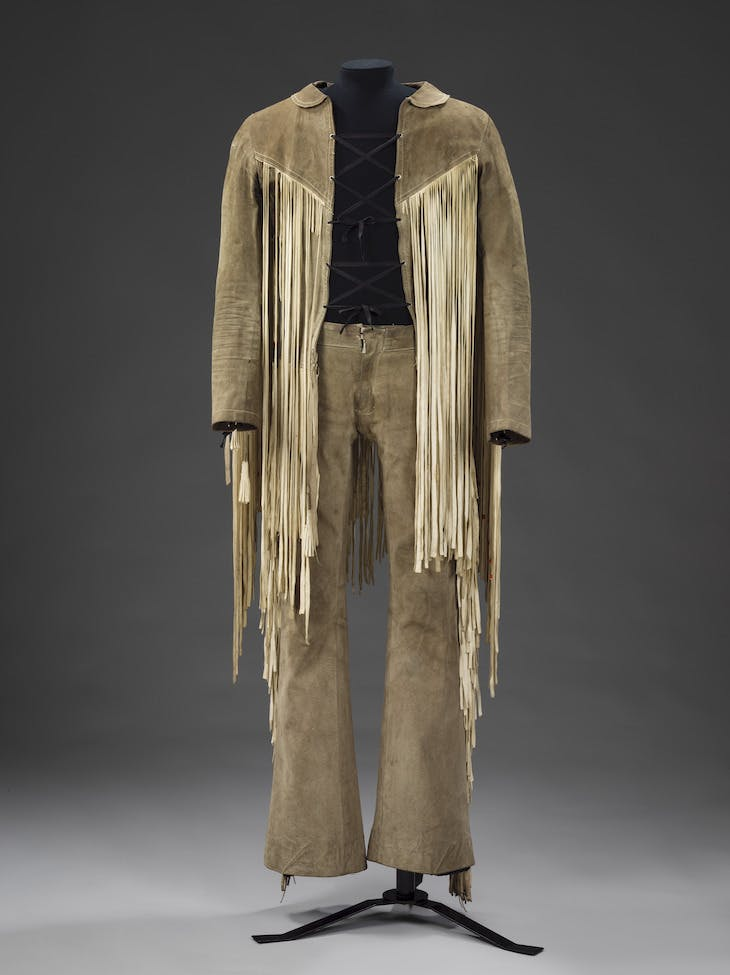 Jacket and trousers worn by Roger Daltrey from The Who at the Isle of Wight Festival, 1969.
