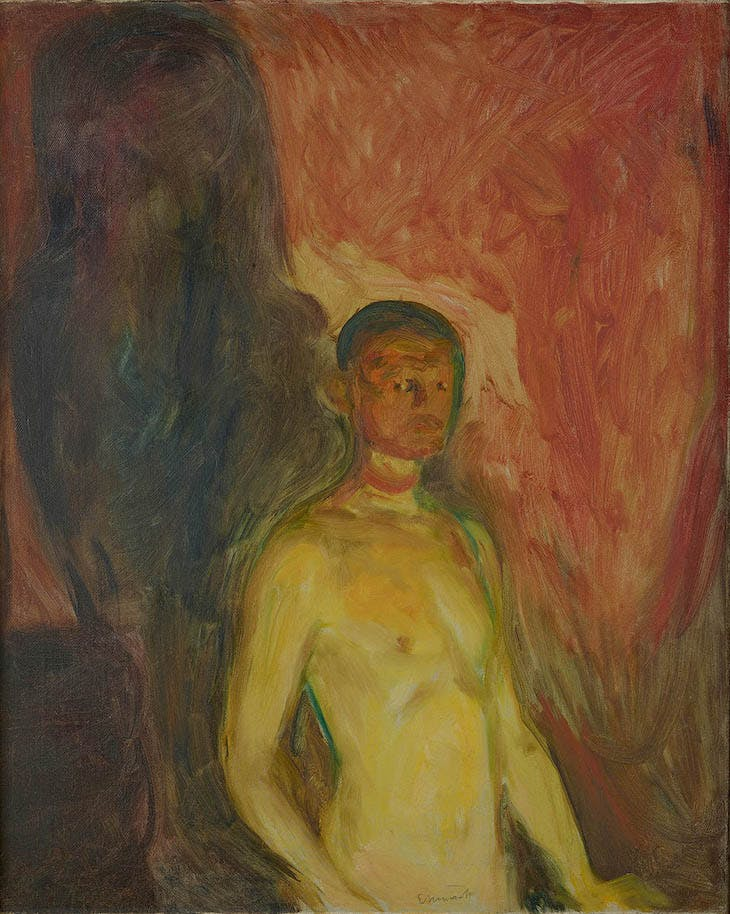 Self-Portrait in Hell (1903), Edvard Munch.