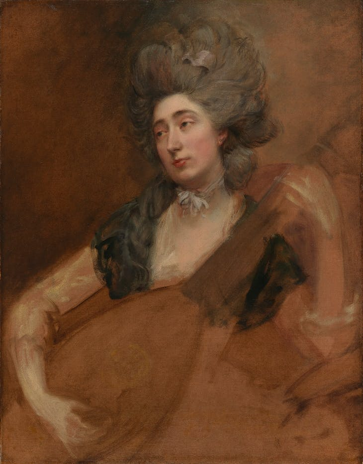 Portrait of Margaret Gainsborough holding a Theorbo (c. 1777), Thomas Gainsborough.
