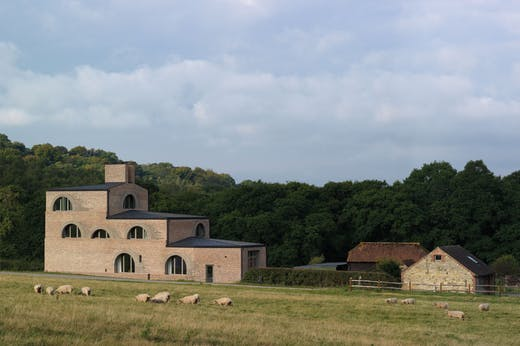 Nithurst Farm in West Sussex, designed by Adam Richards and completed in 2019.