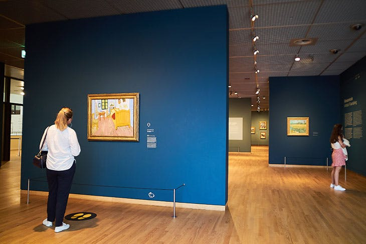 Visitors at the reopened Van Gogh Museum in Amsterdam on 1 June.