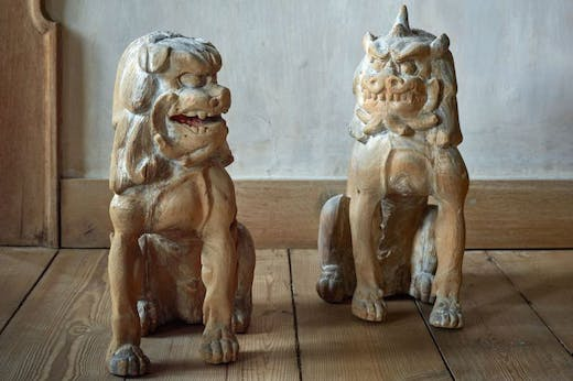Komainu (lion-dogs) (c. 1300), Japan.