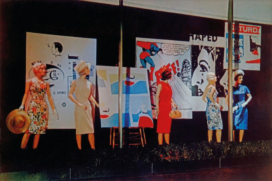 Andy Warhol's window display for department store Bonwit Teller, New York, in 1961.