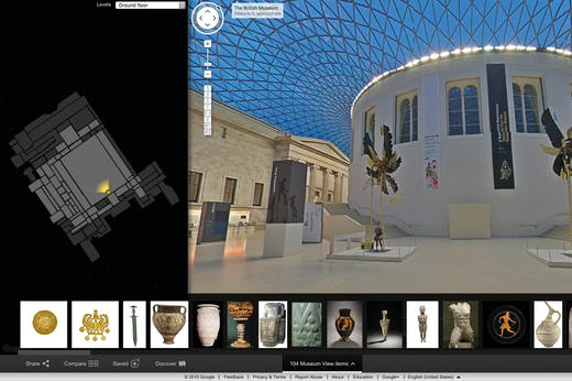 The British Museum has created its virtual tour with Google Arts & Culture