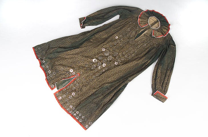 Seneca woman's tunic, formerly owned by Charlotte Sundown (1850–70)