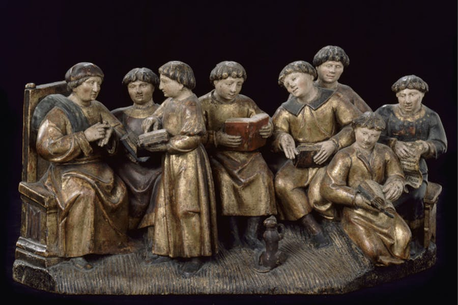 School scene (early 16th century), France.