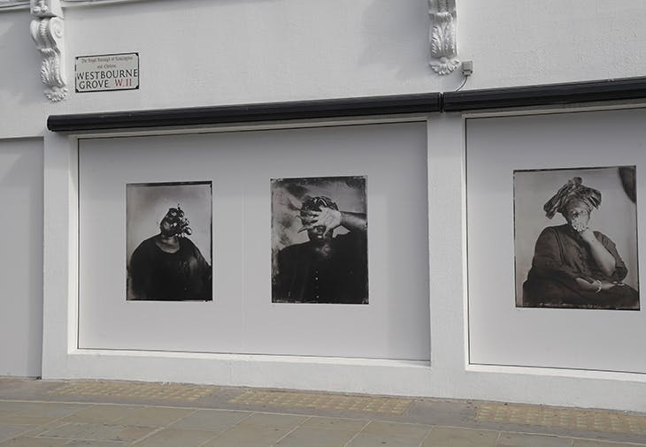 Installation view, 'Breath is Invisible' at 236 Westbourne Grove, west London