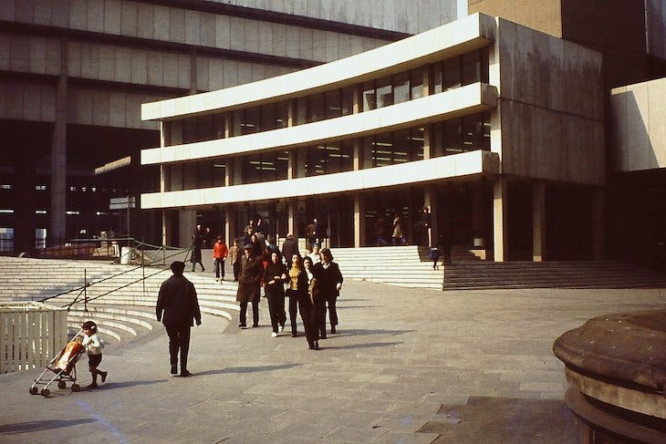 Birmingham Central Library (demolished 2016), designed by John Madin and Partners in 1974.