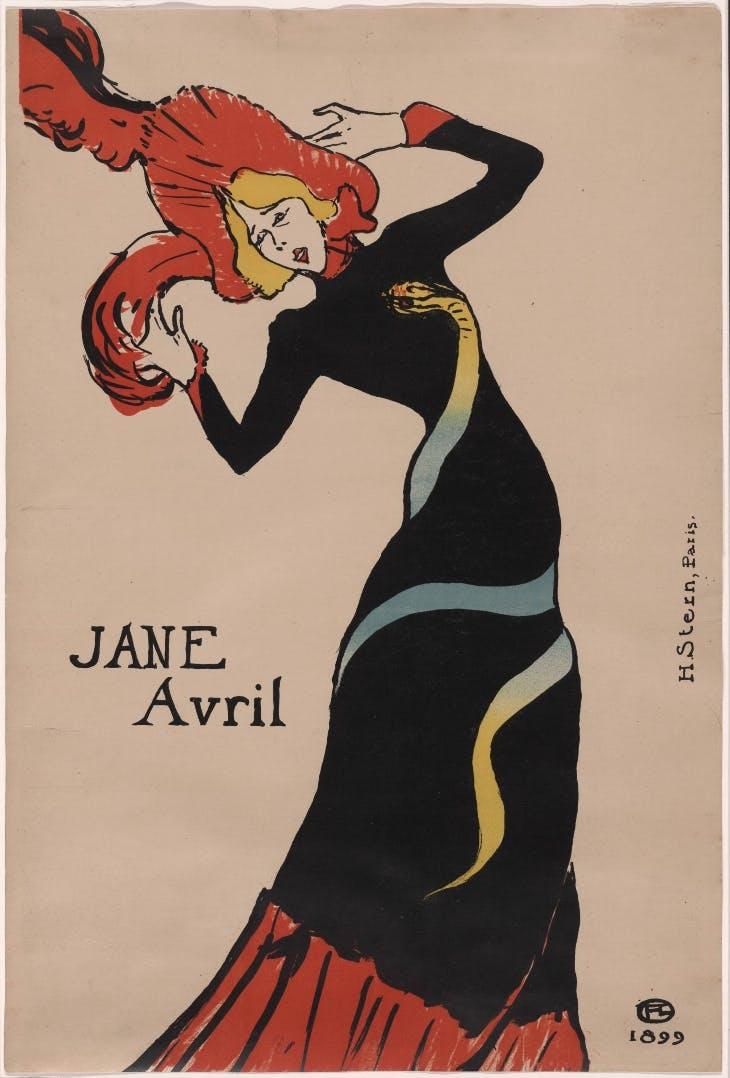 Jane Avril (1899), Henri de Toulouse-Lautrec.