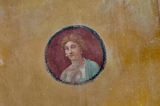 Portrait of a woman from the House with Garden (1st century BC), Pompeii.