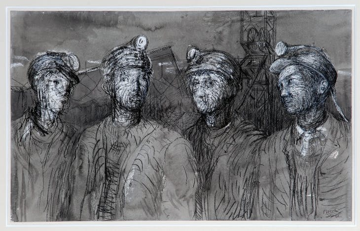 Pit Boys at Pit Head (1942), Henry Moore.