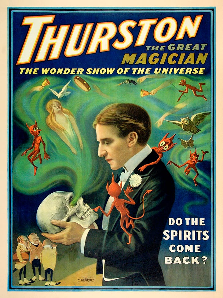 Thurston the Great Magician – Do the Spirits Come Back? (1915), Strobridge Lithographing Company.