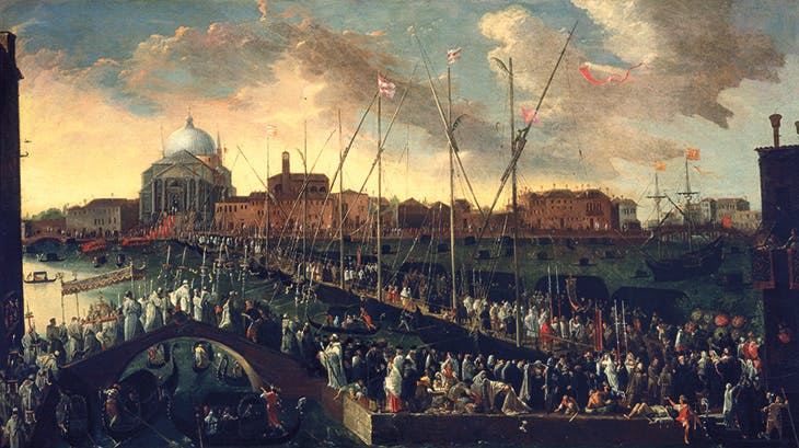 Procession before Il Redentore (c. 1648), Joseph Heintz the Younger. Museo Civico Correr, Venice.