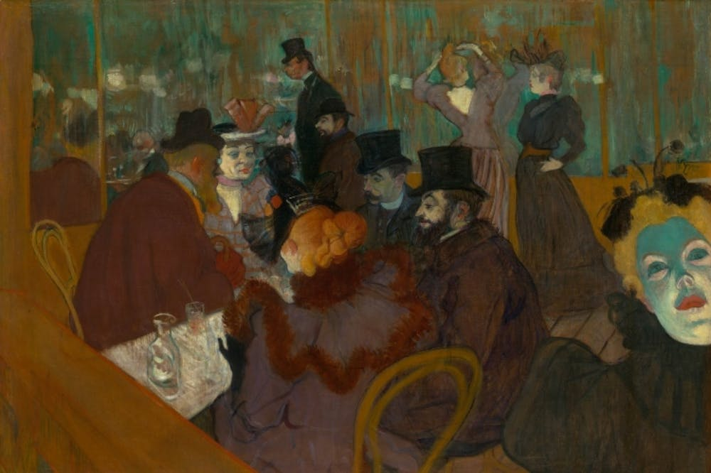 At the Moulin Rouge (1892-95) Henri de Toulouse-Lautrec.