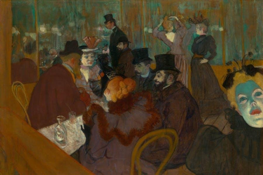 At the Moulin Rouge (1892-95) Henri de Toulouse-Lautrec.