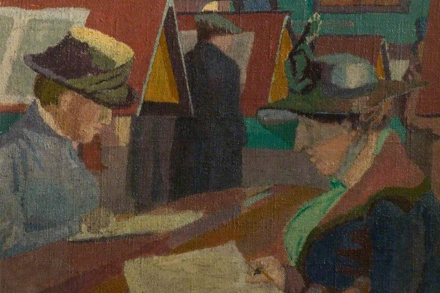 Chelsea Public Library (detail; 1920), Malcolm Drummond.