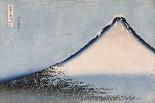 The Blue Fuji (1831), Katsushika Hokusai.