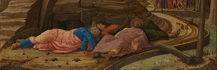The Agony in the Garden, (detail), (c. 1455–56), Andrea Mantegna. National Gallery, London