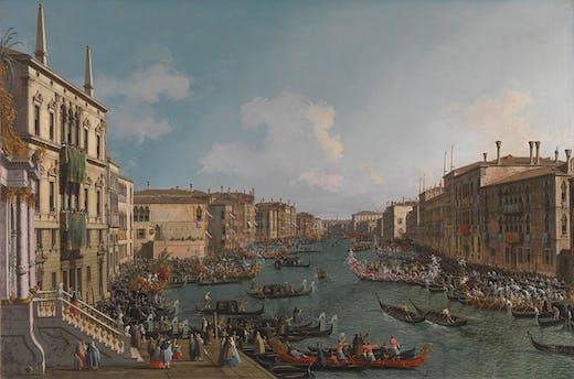 A Regatta on the Grand Canal, (c. 1740), Canaletto. National Gallery, London