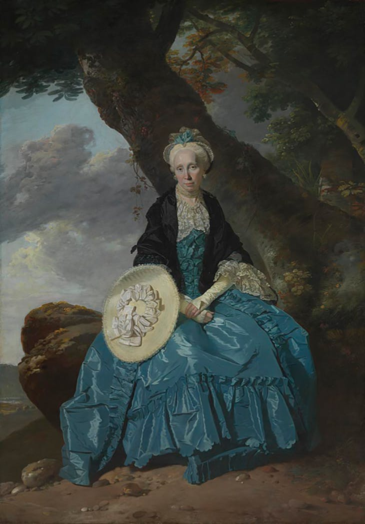 Mrs Oswald, (c. 1763–64), Johann Zoffany. National Gallery, London