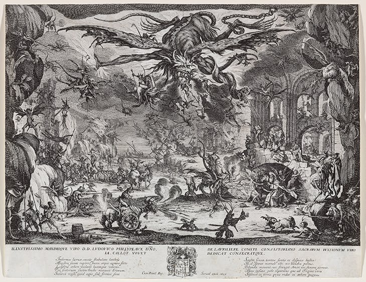 The Temptation of Saint Anthony (second version) (1635), Jacques Callot.