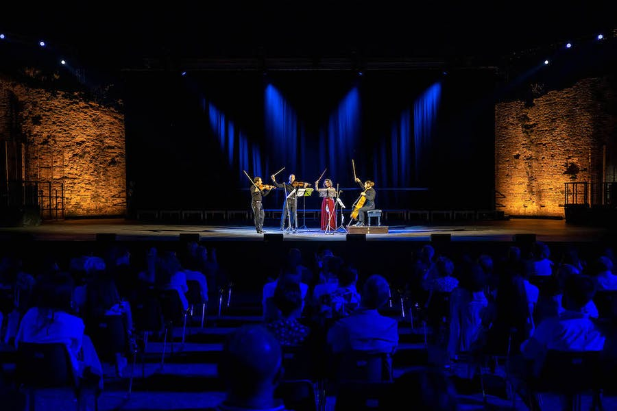 The Quartetto Noûs performing a tribute to Beethoven on 4 July.