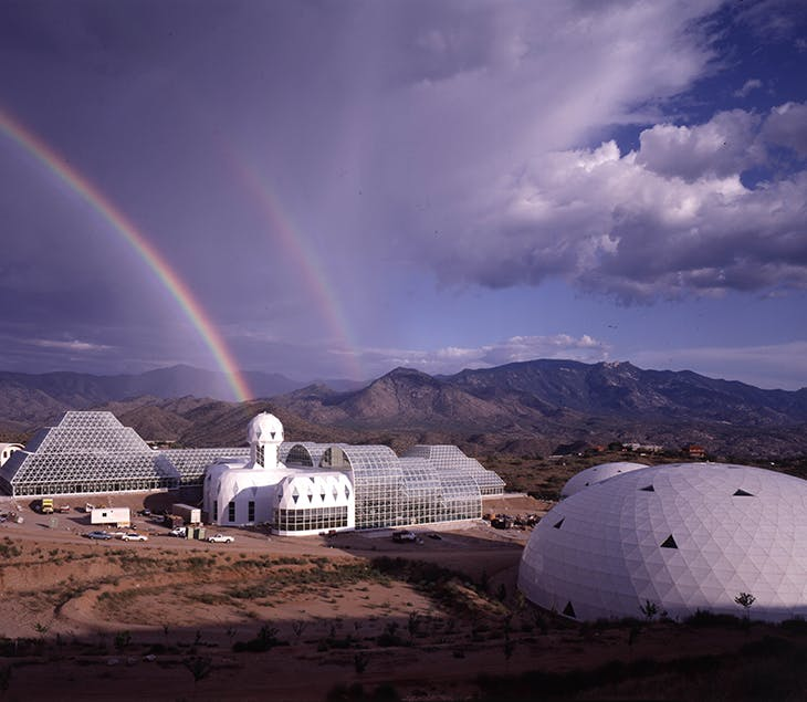 Exterior of Biosphere 2. Courtesy NEON