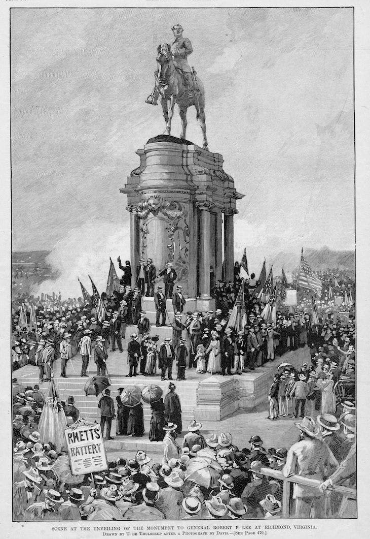Scene at the unveiling of the monument to General Robert E. Lee at Richmond, Virginia (1890), Thure De Thulstrup, published in Harper's Weekly on June 14, 1890