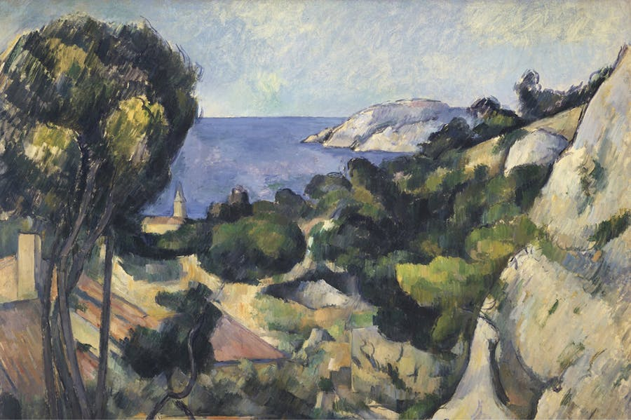 L'Estaque (detail; 1879–83), Paul Cézanne.