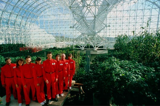 The eight 'bionauts' of Biosphere 2. Courtesy NEON